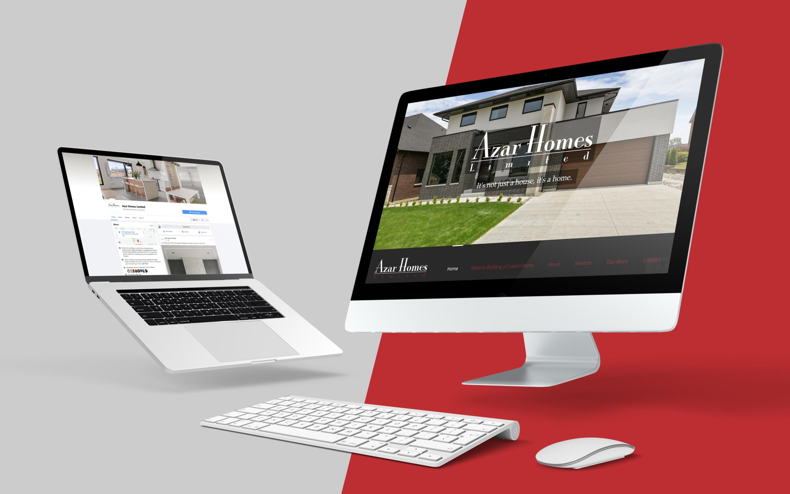 Azar Custom Homes Social Media and Website